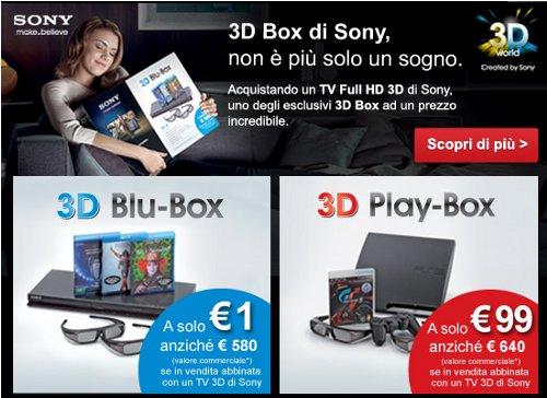 offerta sony 3d
