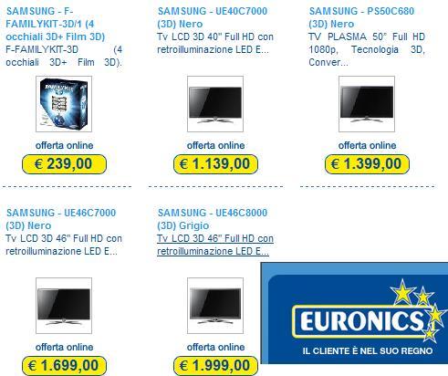 sconti 3d euronics online