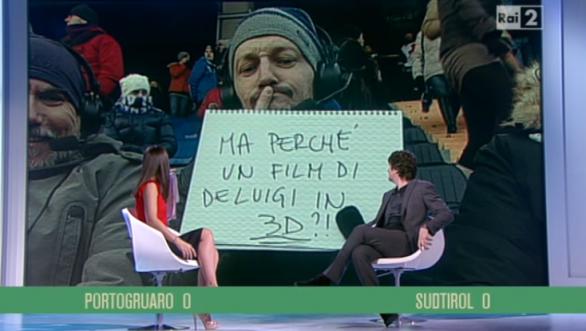 Fabio De Luigi a Quelli che il calcio per la promozione di come è bello far l'amore 3D