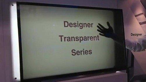 schermo tv trasparente