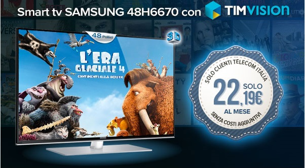 timvision offre tv 3d Samsung
