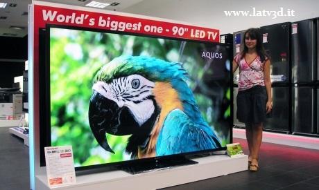 il più grande tv 3d al mondo