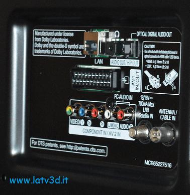 connessioni smart tv LG 42LF652V