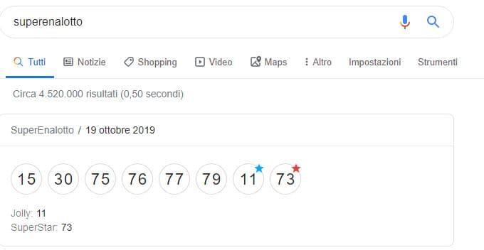 ricerca su google